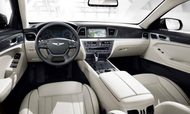 2014 Hyundai Genesis sedan interior dashboard