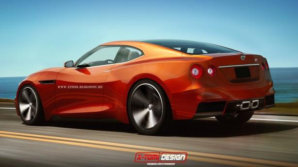 2016 Nissan GT-R render rear quarter