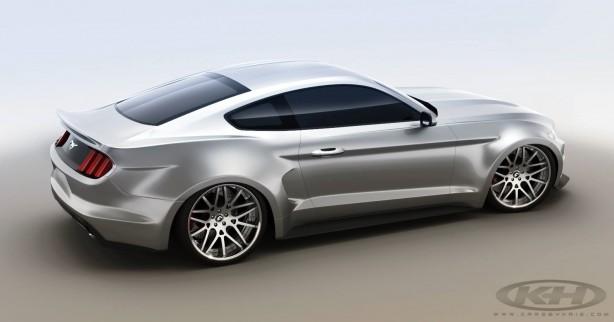 Forgiato Wheels & KH's wide body 2015 Ford Mustang rear quarter