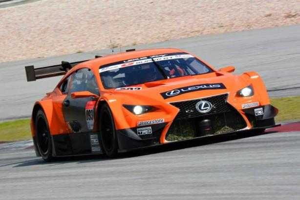 Lexus RC F GT500 racer front quarter