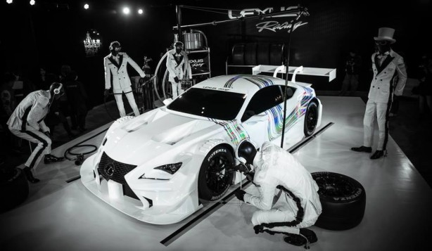 Lexus RC F GT500 racer in the pit