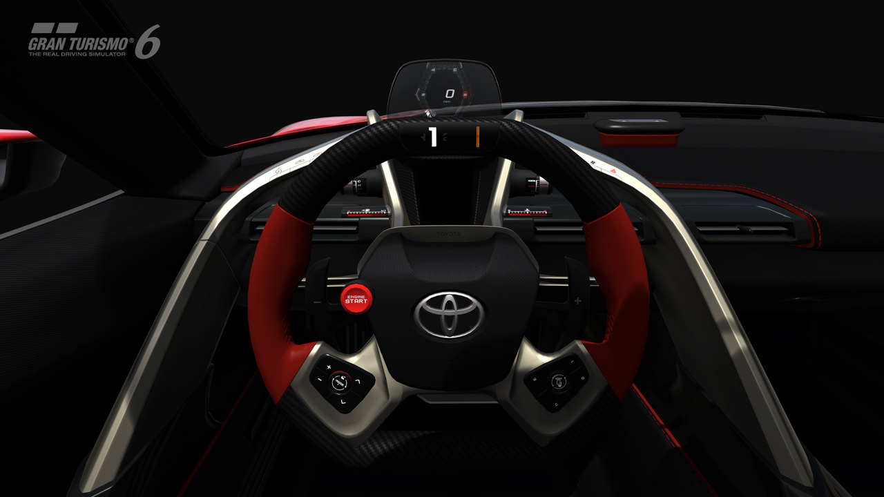 Toyota FT-1 Concept interior on Gran Turismo 6-1 - ForceGT.com