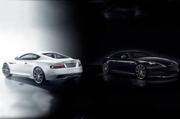 Aston Martin DB9 Carbon White and Carbon Black
