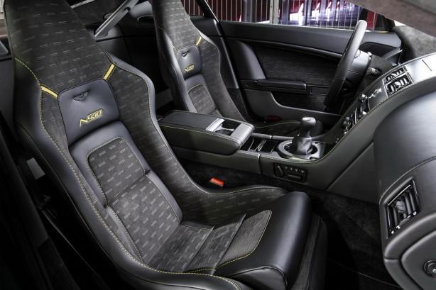 Aston Martin N430 yellow front seats