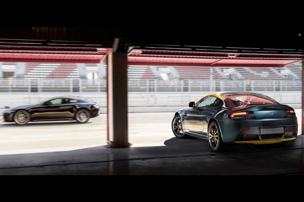 Aston Martin N430 yellow rear