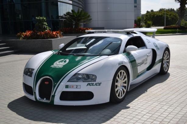 Dubai Police Bugatti Veyron patrol car