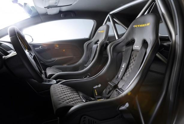 Opel Astra OPC EXTREME interior Recaro bucket seats