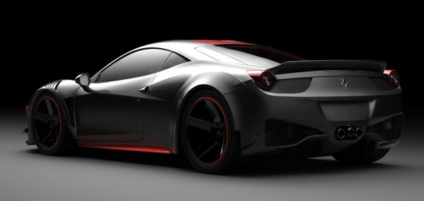 Vogue Auto Design & Gray Design Ferrari F458 Curseive rear quarter