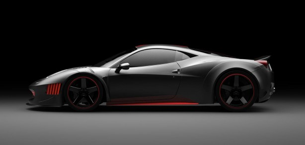 Vogue Auto Design & Gray Design Ferrari F458 Curseive side