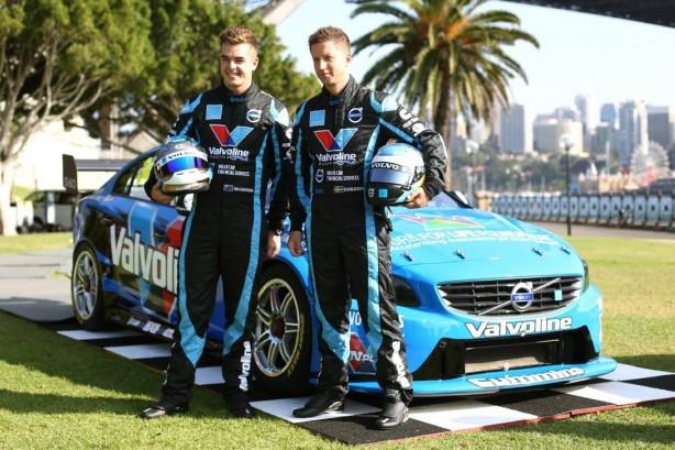 Volvo S60 V8 Supercar drivers Scott McLaughlin and Robert Dahlgren