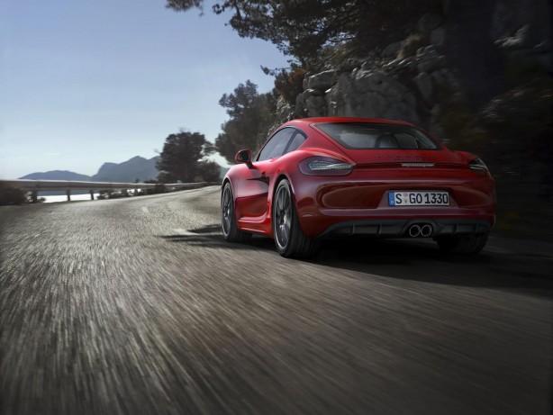 2014 Porsche Cayman GTS rear