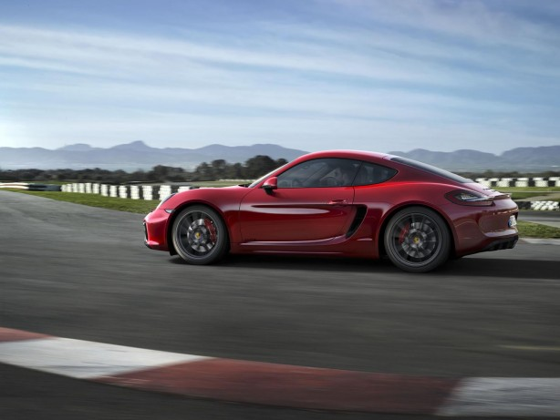 2014 Porsche Cayman GTS side
