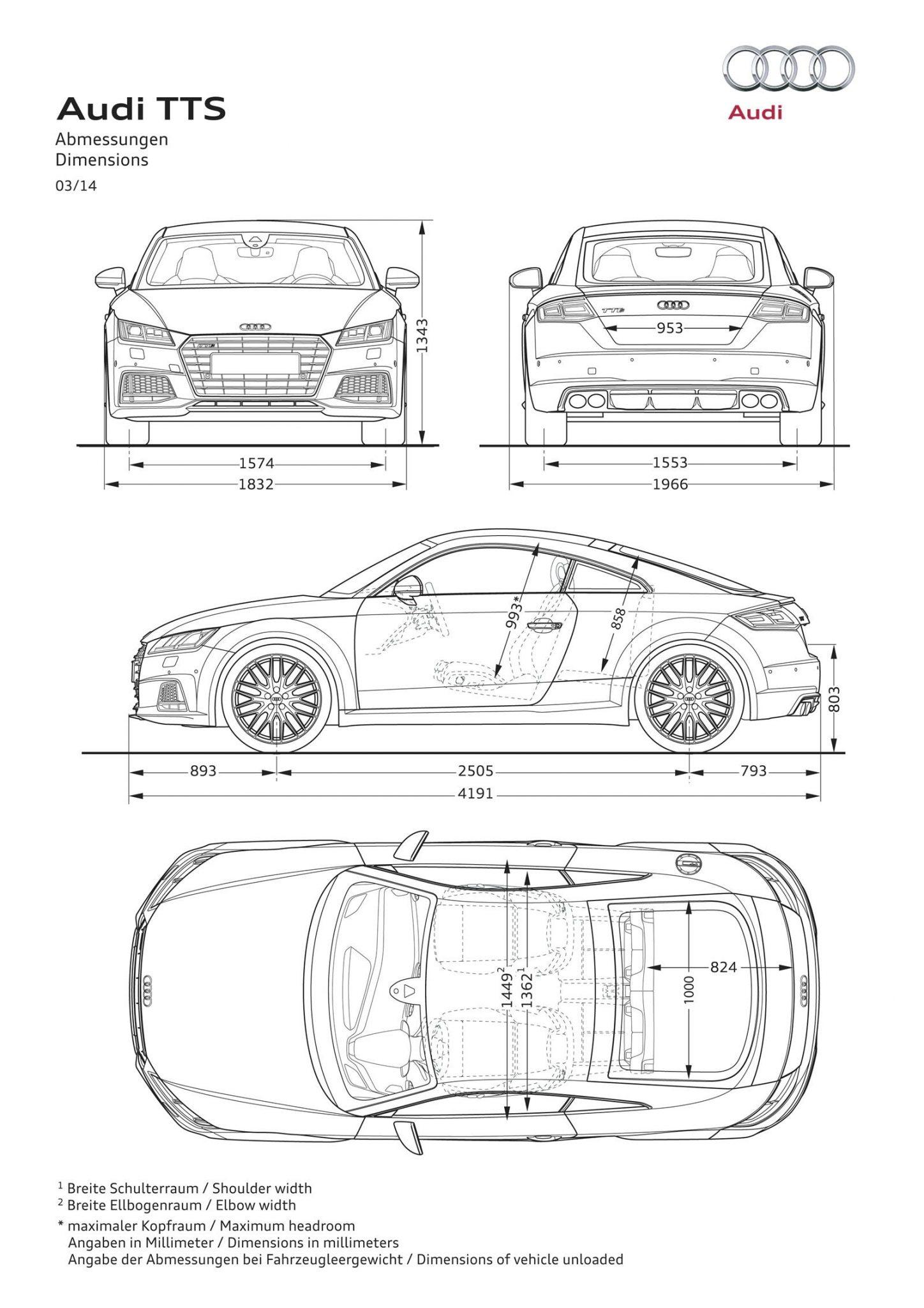 2015 Audi Tt Dimensions Forcegt Com