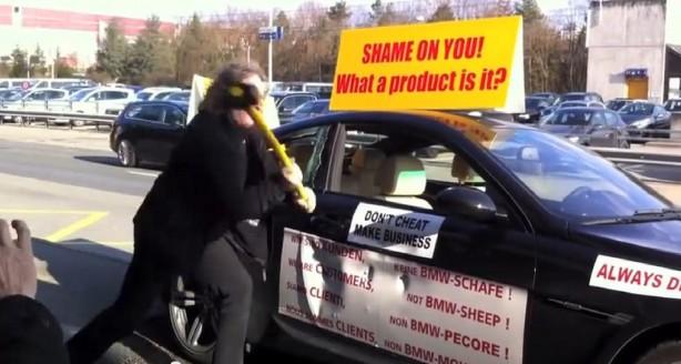 BMW owner destroys own M6