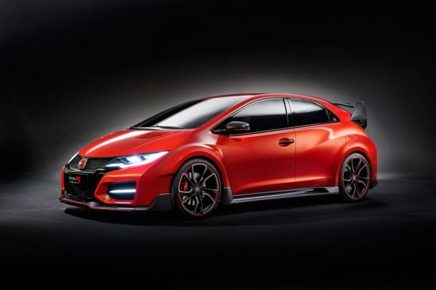 Honda Civic Type R concept front quarter