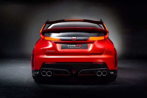 Honda Civic Type R concept rear