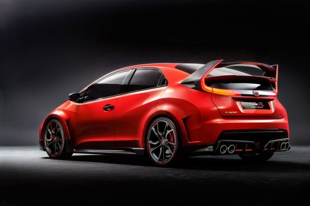 Honda Civic Type R concept rear quarter