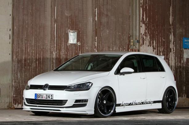 Ingo Noak-tuned Volkswagen Golf 7 front quarter