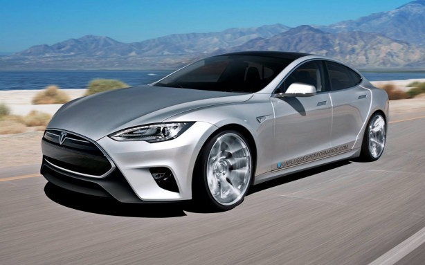 Silver Tesla Model S with Unplugged Performance kit