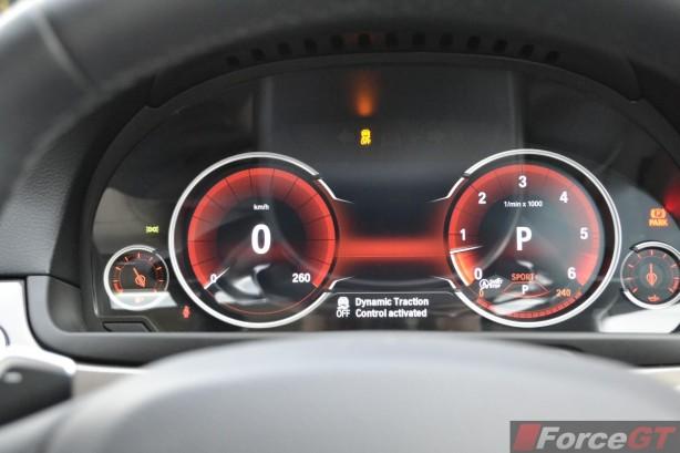 2014 BMW 535d interior instruments sports mode