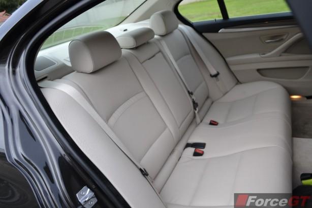 2014 BMW 535d interior rear seats