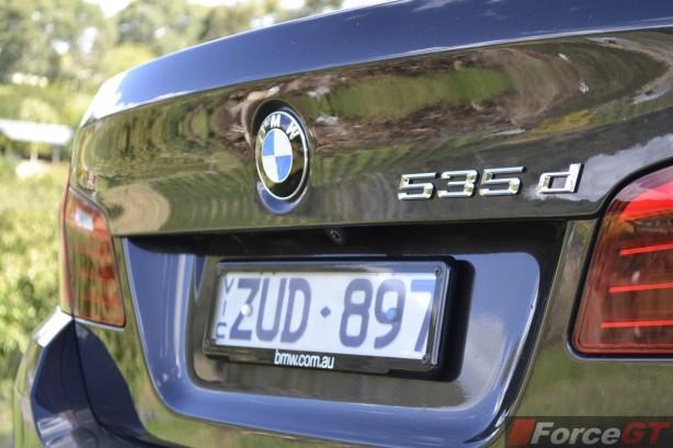 2014 BMW 535d rear badge