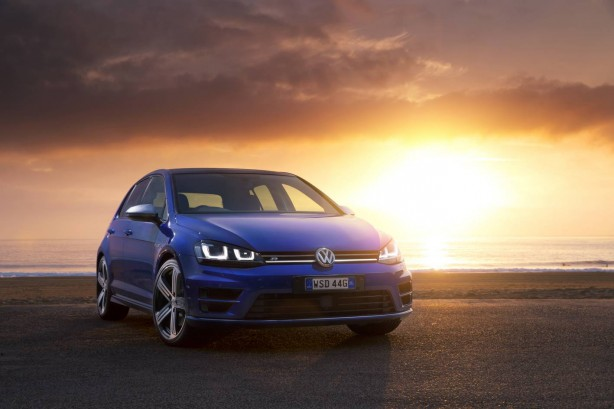 4th gen Volkswagen Golf R front quarter