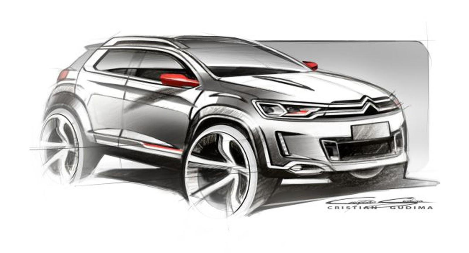 Compact Suv Australia >> Citröen Cars - News: Crossover concept sketch leaked online