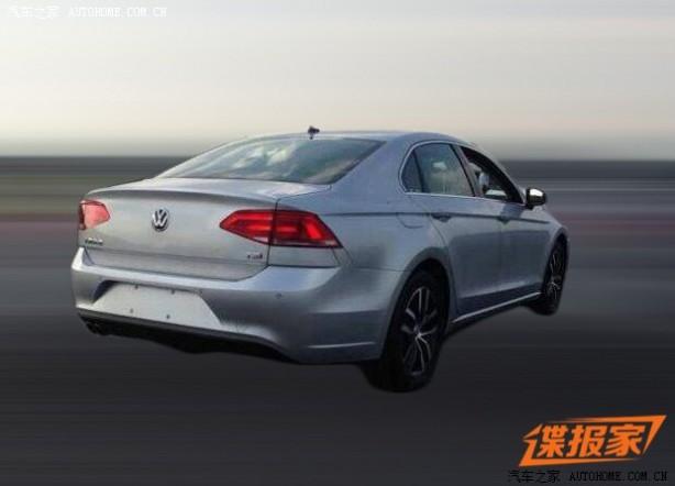 Volkswagen Midsize Coupe leaked image rear quarter