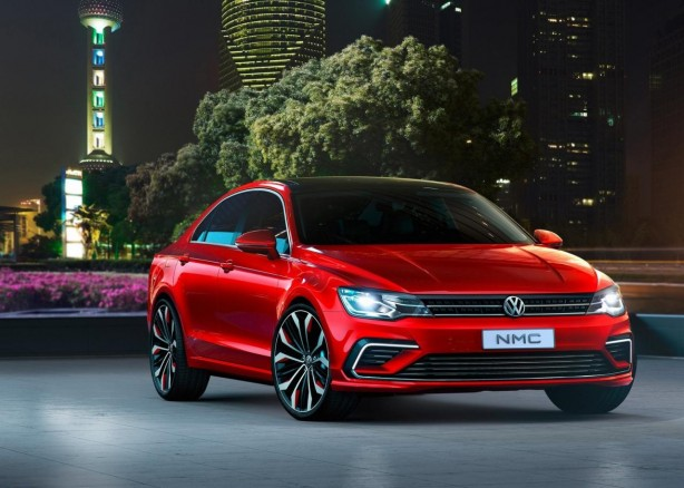Volkswagen new Midsize Coupe Concept front quarter