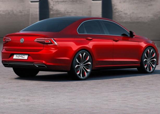Volkswagen new Midsize Coupe Concept rear quarter