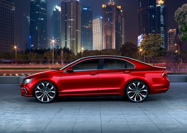 Volkswagen new Midsize Coupe Concept side