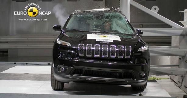 2015 Jeep Cherokee pole test