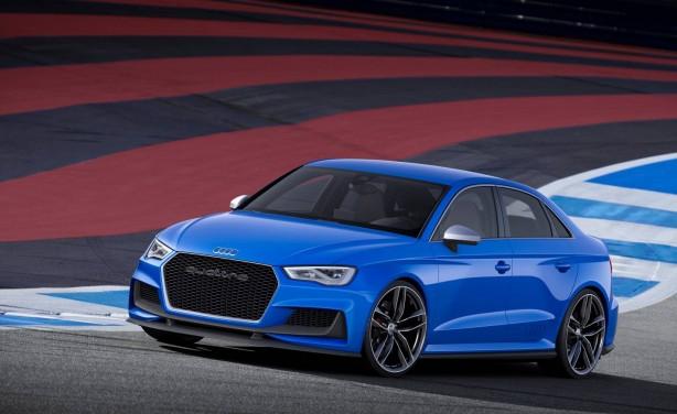 Audi A3 Clubsport quattro concept front quarter