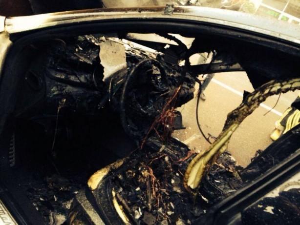 Maserati Quattroporte burnt in Azerbaijan interior