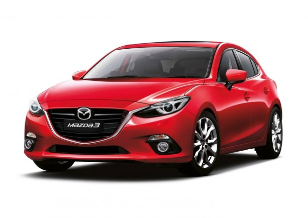 Mazda3 XD front quarter