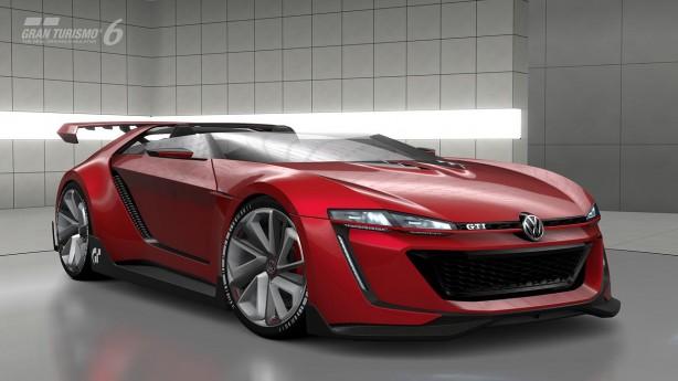 Volkswagen Golf GTI Vision Gran Turismo Roadster front quarter