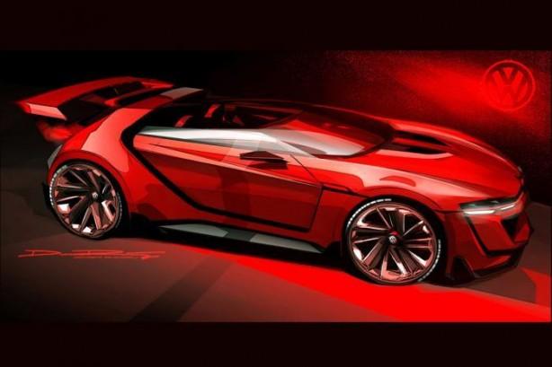 Volkswagen Golf GTI Vision Gran Turismo front quarter-1