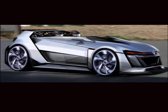 Volkswagen Cars - News: Golf GTI Vision Gran Turismo concept