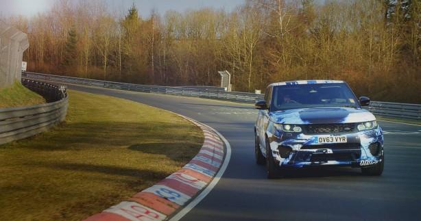 Range Rover Sport SVR prototype front