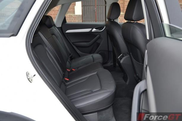 2014 Audi Q3 1.4TSI rear seat legroom