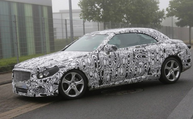 2016 Mercedes-Benz C-Class Cabrio spy photo front quarter