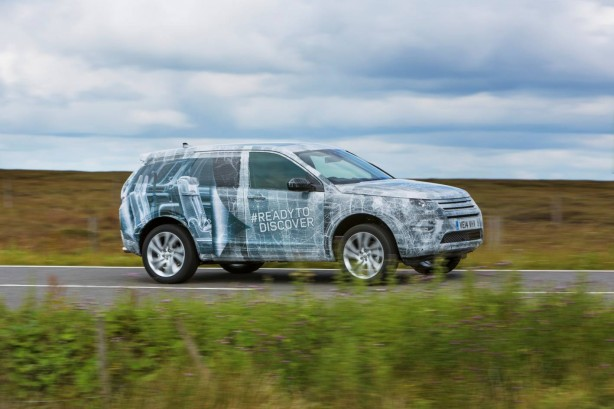 Land Rover Discovery Sport prototype front quarter