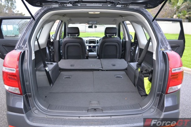 2014 Holden Captiva 7 luggage space seats down