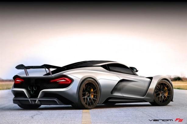 Hennessey Venom F5 rear quarter