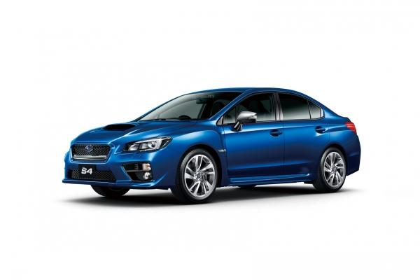 JDM Subaru WRX S4 front quarter blue
