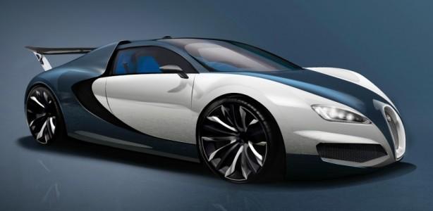 Next-generation Bugatti Veyron render