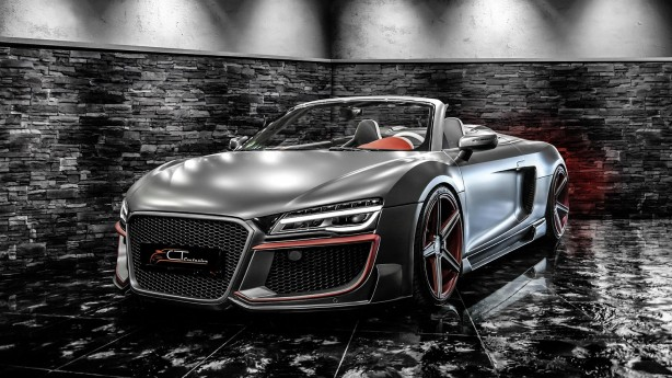 Audi R8 customised by CT Exclusive front quarter