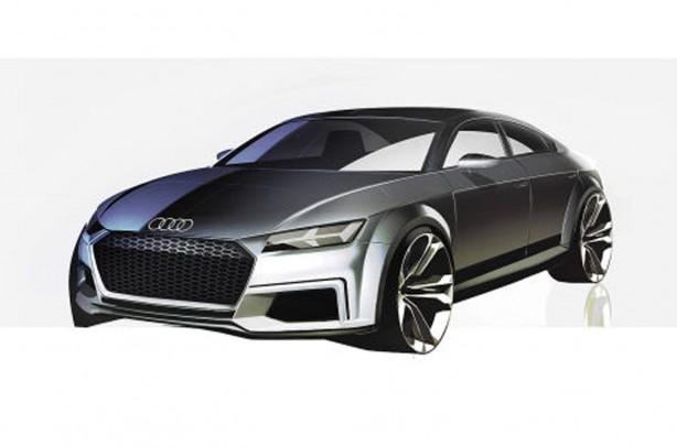 Audi TT Sportback concept sketch front quarter