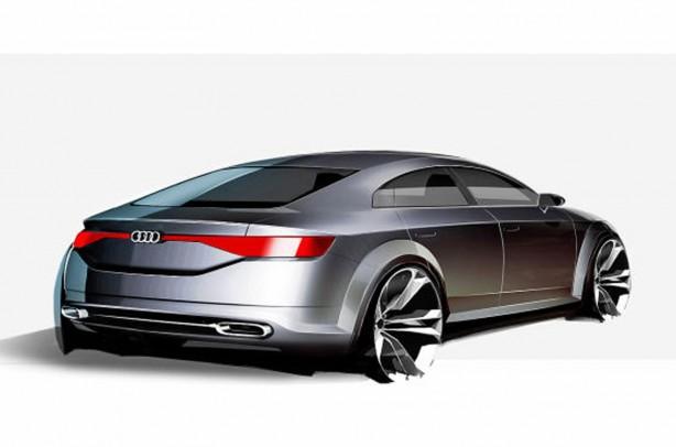 Audi TT Sportback concept sketch rear quarter